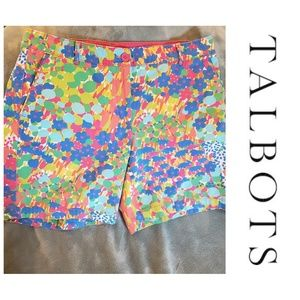 Talbot's bright and colorful weekend shorts size 8